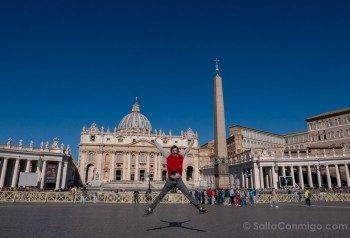 Iglesias de Roma Basilica San Pedro Exterior Salto
