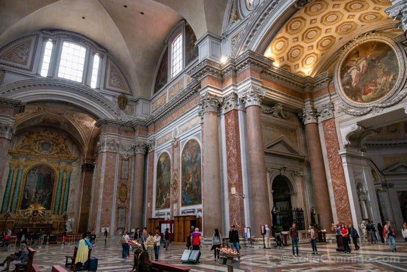 Iglesias de Roma Basilica Santa Maria Angeles Martires Interior