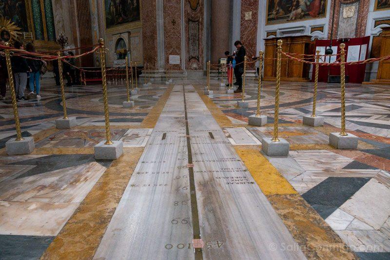 Iglesias de Roma Basilica Santa Maria Angeles Martires Meridiana