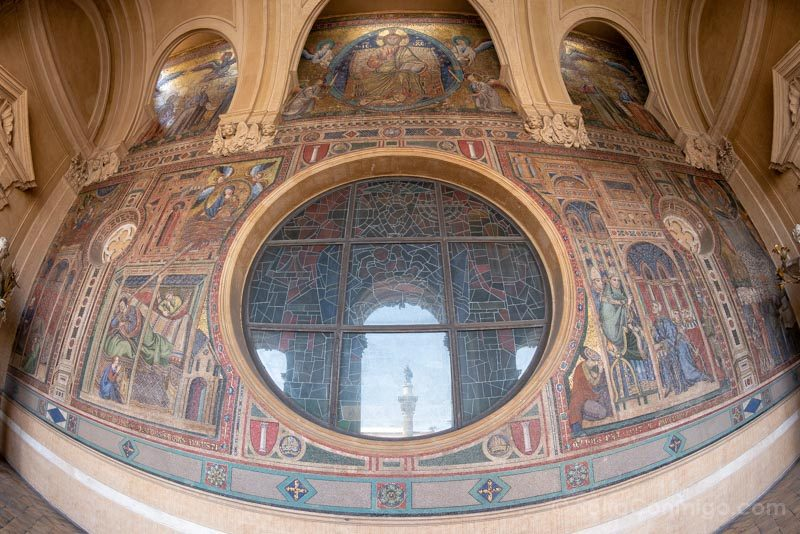 Iglesias de Roma Basilica Santa Maria Mayor Mosaico Arriba