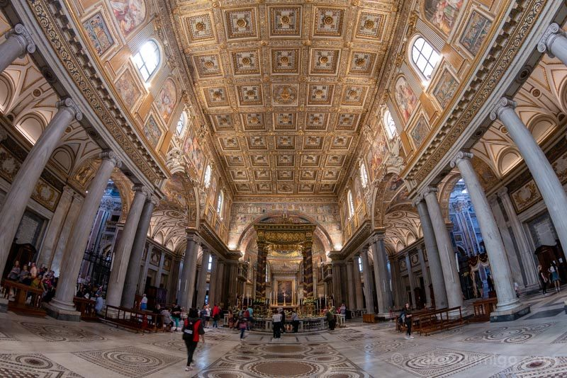 Iglesias de Roma Basilica Santa Maria Mayor Nave