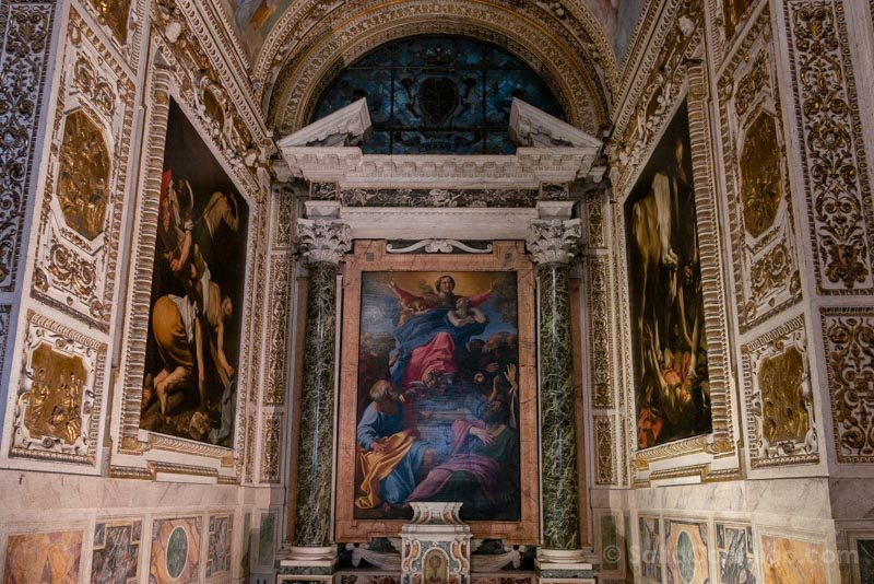 Iglesias de Roma Basilica Santa Maria Popolo Caravaggio