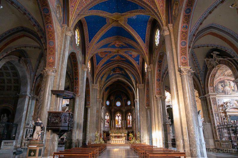 Iglesias de Roma Basilica Santa Maria Sopra Minerva Nave