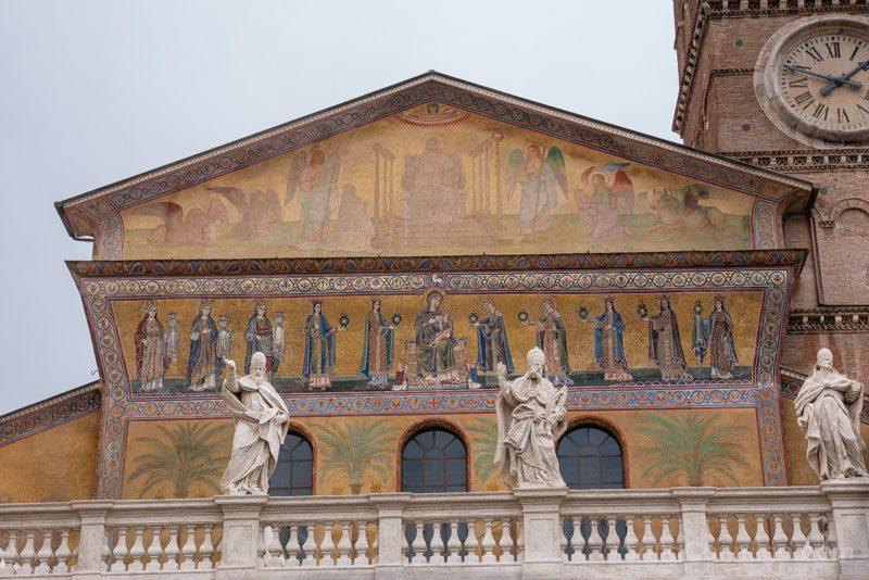 Iglesias de Roma Basilica Santa Maria Trastevere Exterior