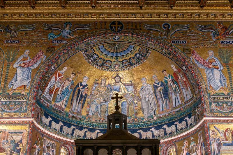 Iglesias de Roma Basilica Santa Maria Trastevere Interior