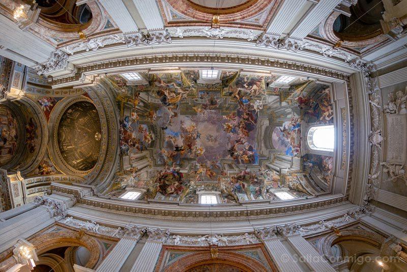 Iglesias de Roma Iglesia San Ignacio Loyola Techo