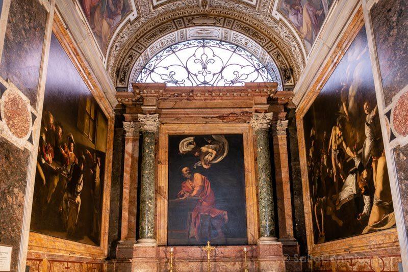 Iglesias de Roma Iglesia San Luis Franceses Caravaggio