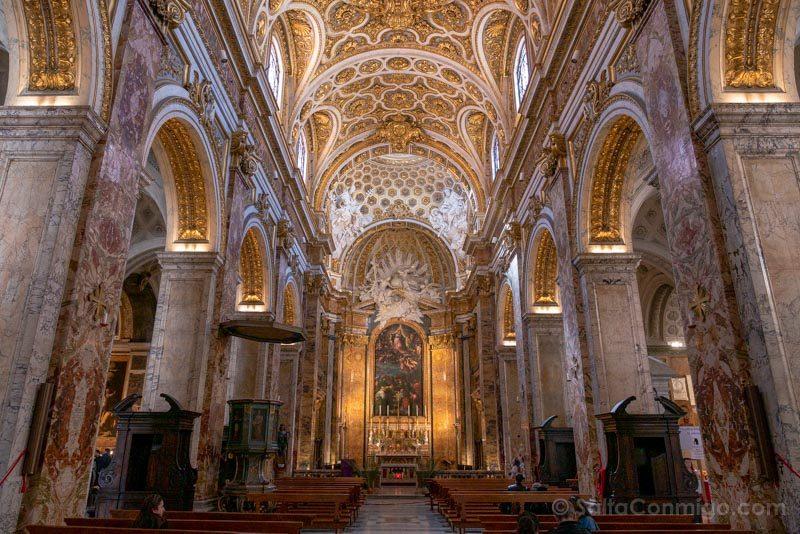 Iglesias de Roma Iglesia San Luis Franceses Nave