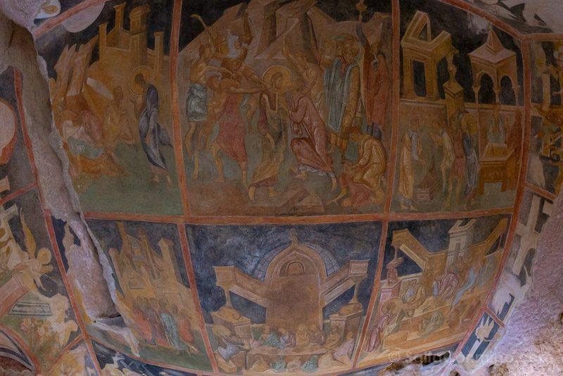 Ivanovo Iglesias Rupestres Nuestra Senora Fresco Capilla Pasion Ojo Pez