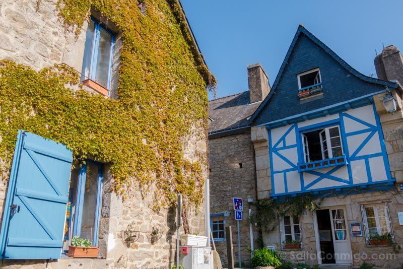 Pueblos Bretana Francia Auray Saint-Goustan Casas
