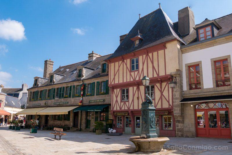 Pueblos Bretana Francia Concarneau Ville-Close Plaza