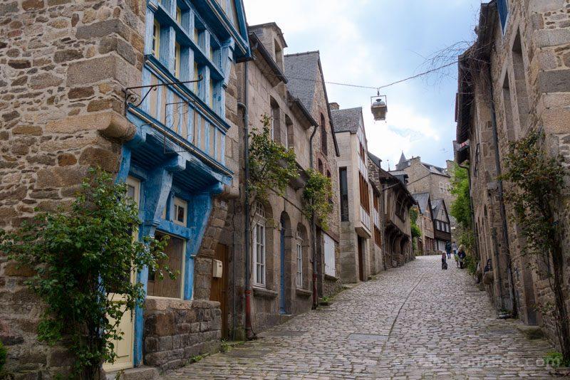 Pueblos Bretana Francia Dinan Calle