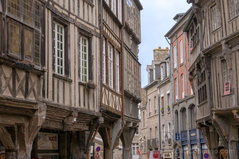 Pueblos Bretana Francia Dinan Casas Madera