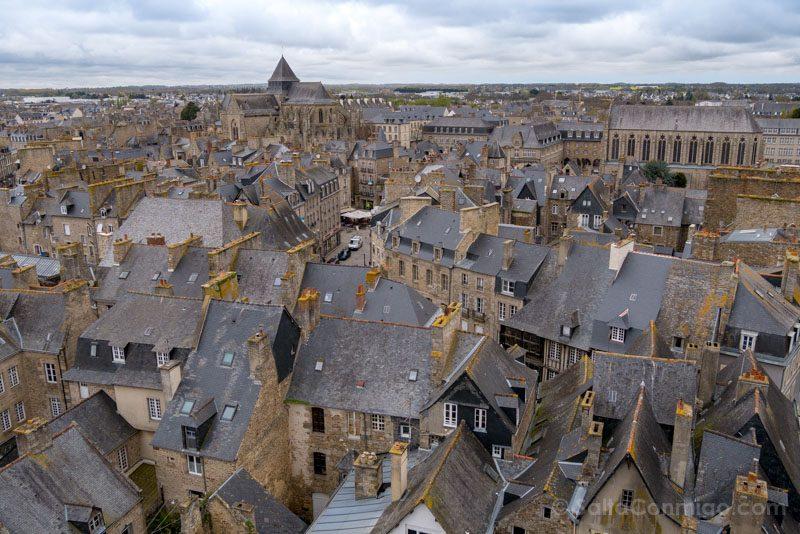 Pueblos Bretana Francia Dinan Vista Torre Reloj