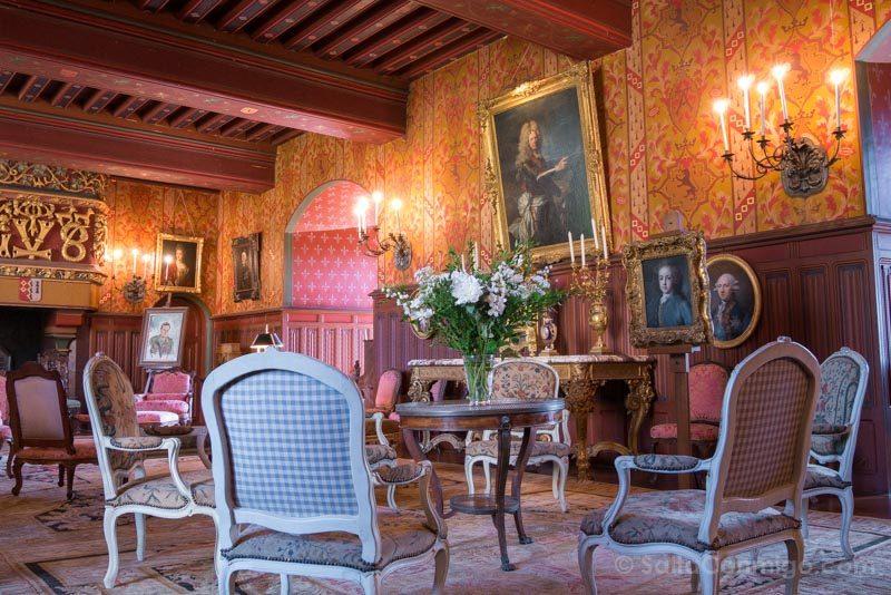 Pueblos Bretana Francia Josselin Castillo Interior