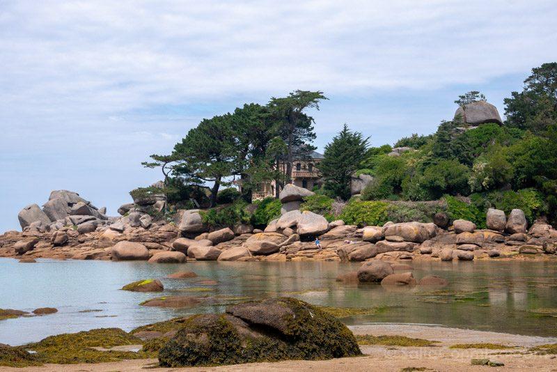 Pueblos Bretana Francia Ploumanac'h Playa Saint-Guirec