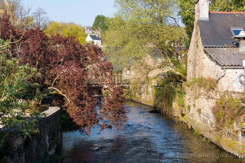 Pueblos Bretana Francia Pont-Aven Rio