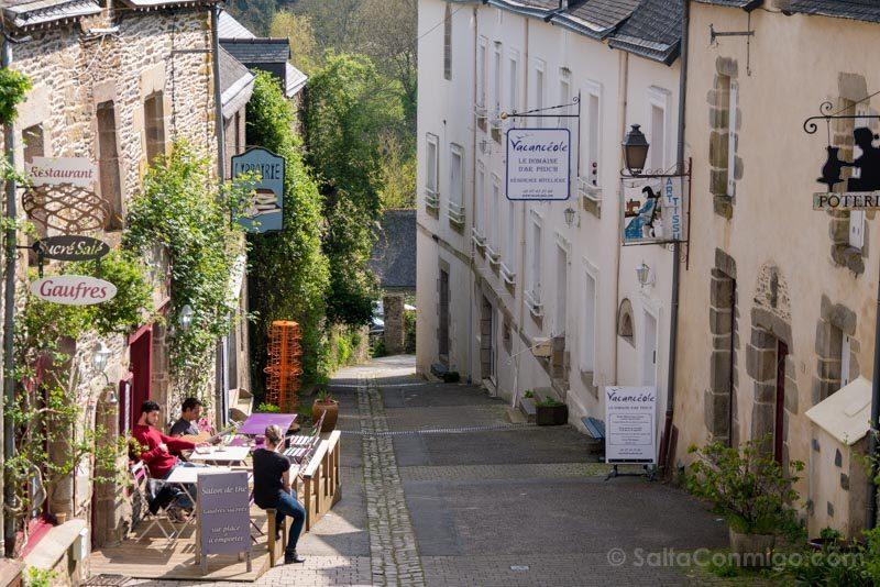 Pueblos Bretana Francia Rochefort-en-Terre Tranquilidad