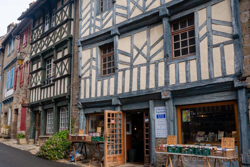 Pueblos Bretana Francia Treguier Casas Madera