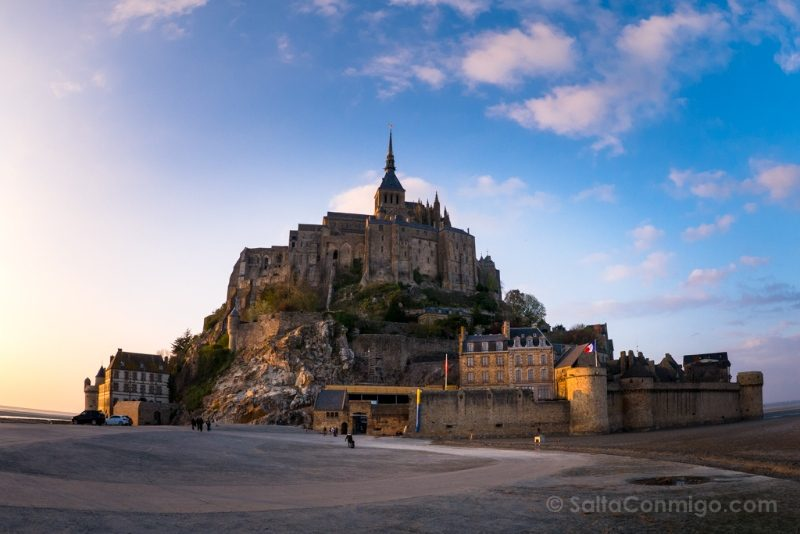Top Destinos Francia Normandia Mont Saint-Michel Atardecer