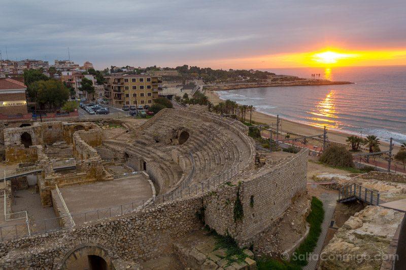 Yacimientos Espana Tarragona Amarecer Anfiteatro