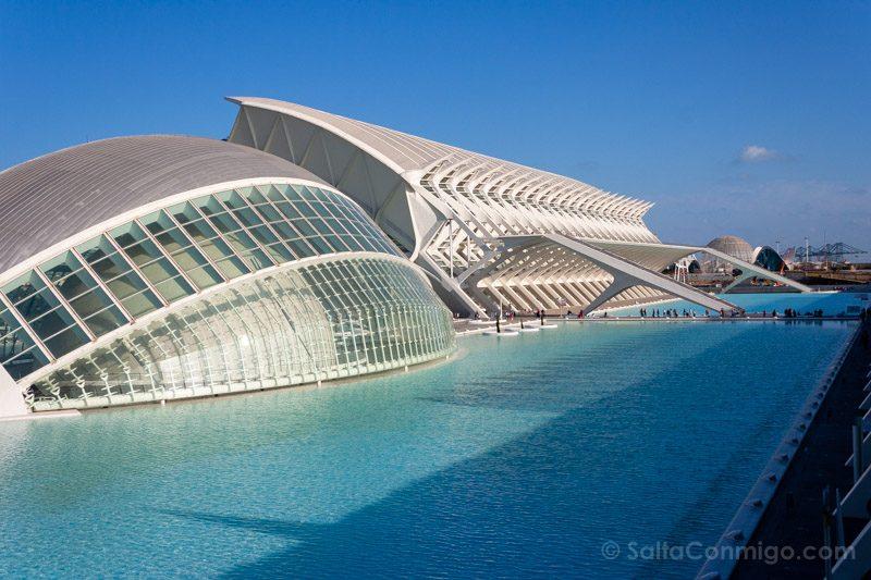 Arquitectura Contemporanea Calatrava Ciudad Artes Ciencias Valencia