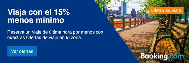 Hasta un 15% de descuento en tu alojamiento con Booking