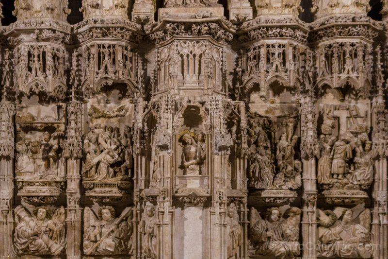Basilica Santa Maria Castello Empuries Retablo Base Detalle Frontal
