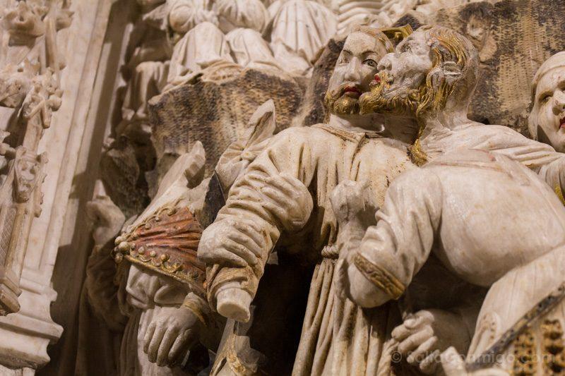 Basilica Santa Maria Castello Empuries Retablo Detalle Judas