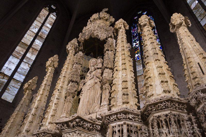Basilica Santa Maria Castello Empuries Retablo Virgen Derecha