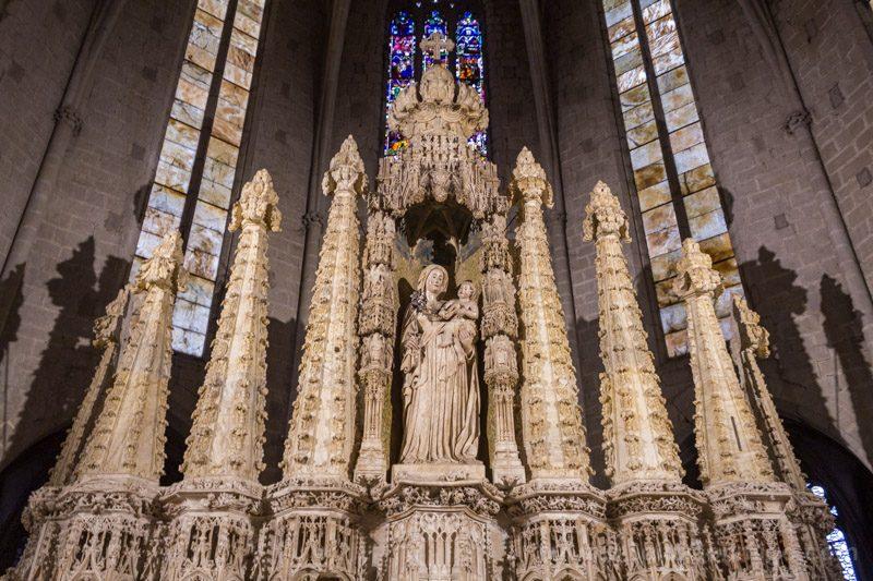 Basilica Santa Maria Castello Empuries Retablo Virgen Frontal