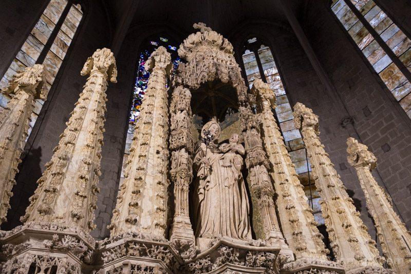 Basilica Santa Maria Castello Empuries Retablo Virgen Izquierda