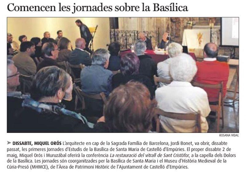 Conferencia Basilica Santa Maria Castello Empuries