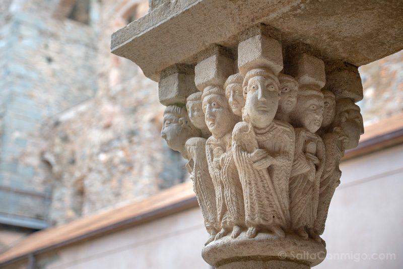 Monasterio Sant Pere Rodes Claustro Superior Capitel