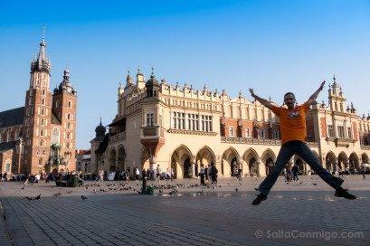 Consejos viajar Cracovia Plaza Mercado Salto