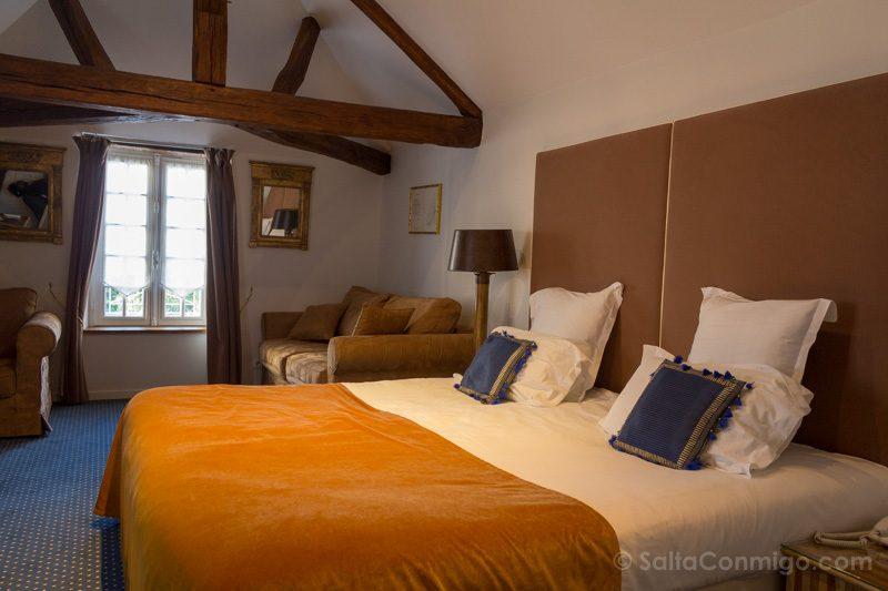 Dormir Hoteles con Encanto en el Valle del Loira Le Clos Amboise Habitacion