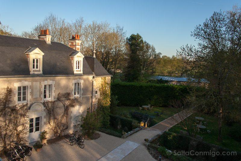 Dormir Hoteles con Encanto en el Valle del Loira Les Sources de Cheverny Patio