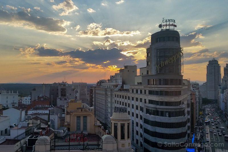 Fin de semana en Madrid Gourmet Experience Atardecer