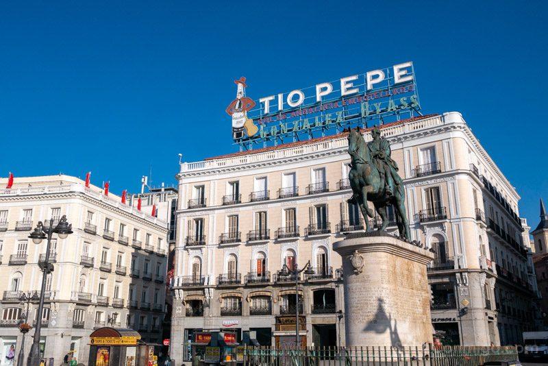 Fin de semana en Madrid Puerta Sol Tio Pepe