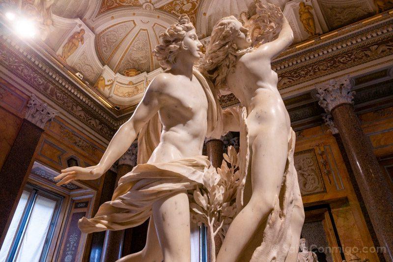 Galeria Borghese Bernini Apolo Dafne Lateral