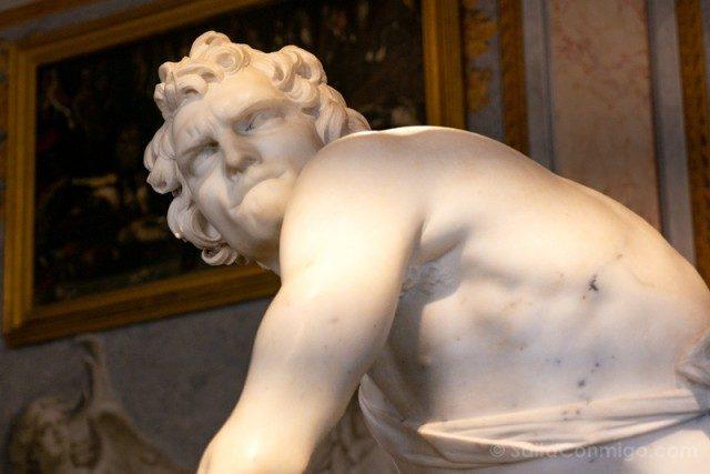 Galeria Borghese Bernini David Detalle Cara