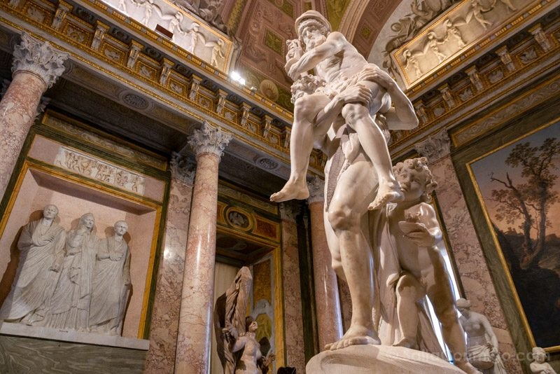 Galeria Borghese Bernini Eneas Anquises Ascanio