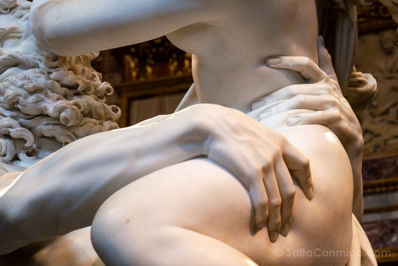 Galeria Borghese Bernini Rapto Proserpina Detalle Muslo