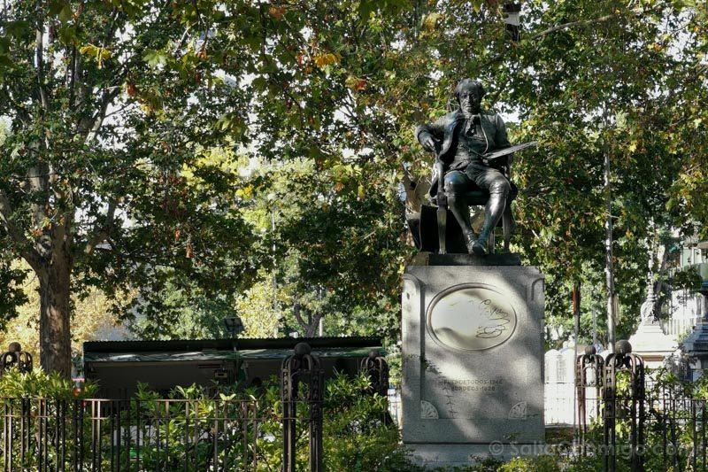 Goya Madrid Estatua Frente San Antonio Florida