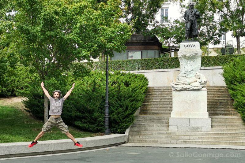 Goya Madrid Museo Prado Estatua Salto