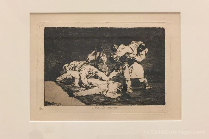 Goya Madrid Real Academia Bellas Artes San Fernando Desastres Guerra