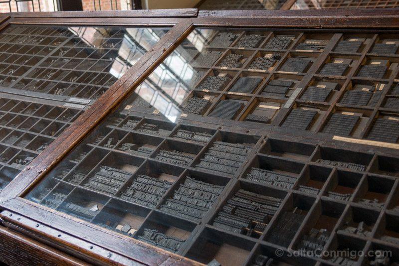 Museos de Amberes Museo Plantin-Moretus Tipos Moviles Imprenta