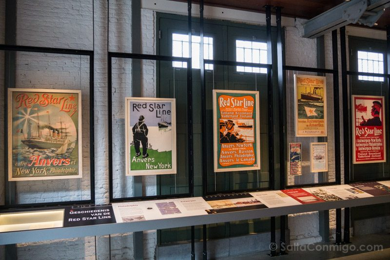 Museos de Amberes Red Star Line Carteles