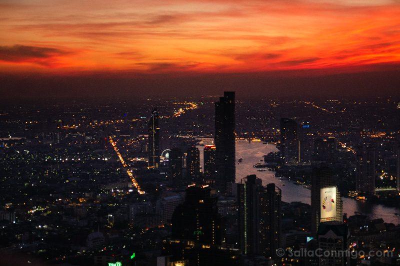 Que Ver En Bangkok Atardecer King Power Mahanakhon