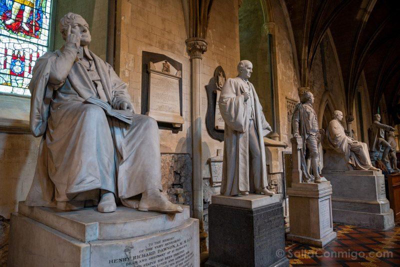 Catedrales Dublin San Patricio Interior Estatuas
